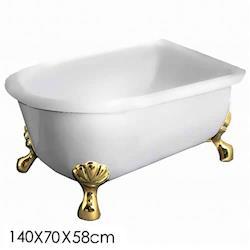Aberdeen 仙度瑞拉古典獨立浴缸金140cm