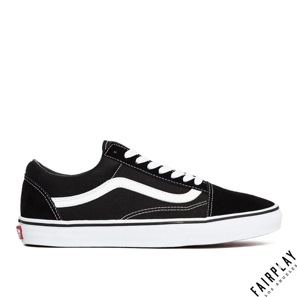 【商城評價第一】Vans Old Skool 黑白 男鞋 女鞋 低筒 板鞋 基本款 經典款 運動鞋 滑板鞋 情侶鞋