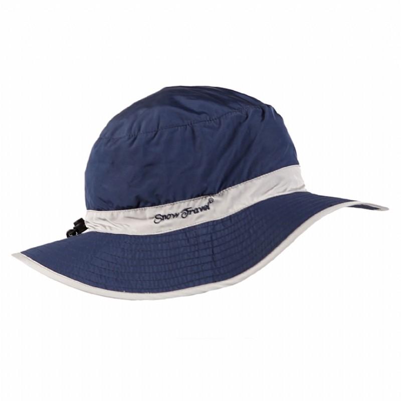 [STAH022-DBLU-LGRY] SNOWTRAVEL 抗UV透氣快乾戶外休閒帽(可折疊)(深藍/淺灰)