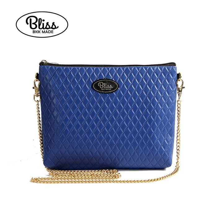 泰國 Bliss BKK包 質感菱格紋藍 4款背帶可選 現貨供應中