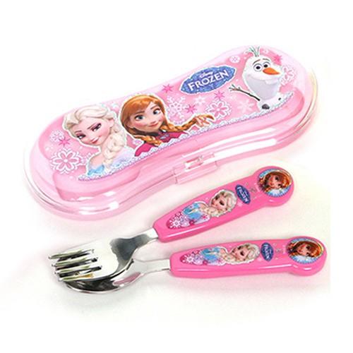 Disney迪士尼冰雪奇緣不鏽鋼湯叉組(盒裝)