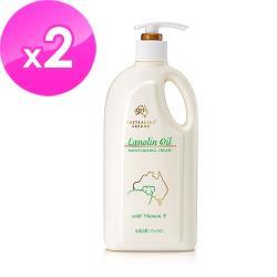 澳洲GM 綿羊油滋潤綿羊霜含維他命E 500g/瓶(家庭號 ) 2入組