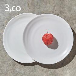 3,co 水波小菜盤 2件式  - 白色
