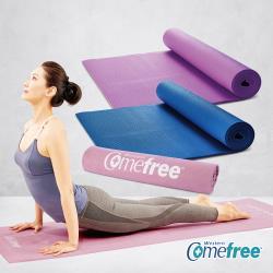 Comefree 超值組-瑜珈彈力墊(兩色可選)+超細纖維吸汗止滑瑜珈鋪巾