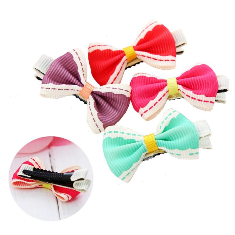 可愛糖果色小緞帶蝴蝶結女童髮夾/髮飾【62200-C3】貝比幸福小舖