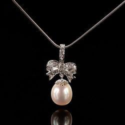 【寶石方塊】春暖花開天然珍珠墜子