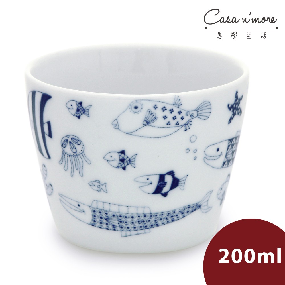 Natural69 波佐見燒 CocoMarine 日式茶杯 酒杯 醬汁碗 沙拉碗 200ml 熱帶魚群 日本製
