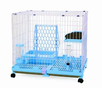 【優比寵物】610-L1Y(附贈全配價)歐式精緻豪華(2層)1跳板貓籠(藍色)/寵物籠/全配件/抽取式底盤/產地:台灣
