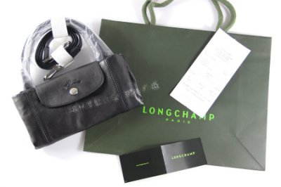 Longchamp Le Pliage Cuir 小羊皮摺疊包1515737 1512737