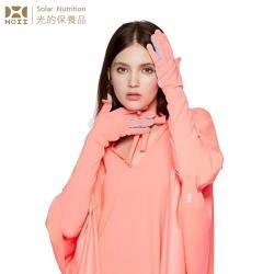 【HOII后益】HOII后益 長版美膚手套★紅光(UPF50+抗UV防曬涼感先進光學機能布)