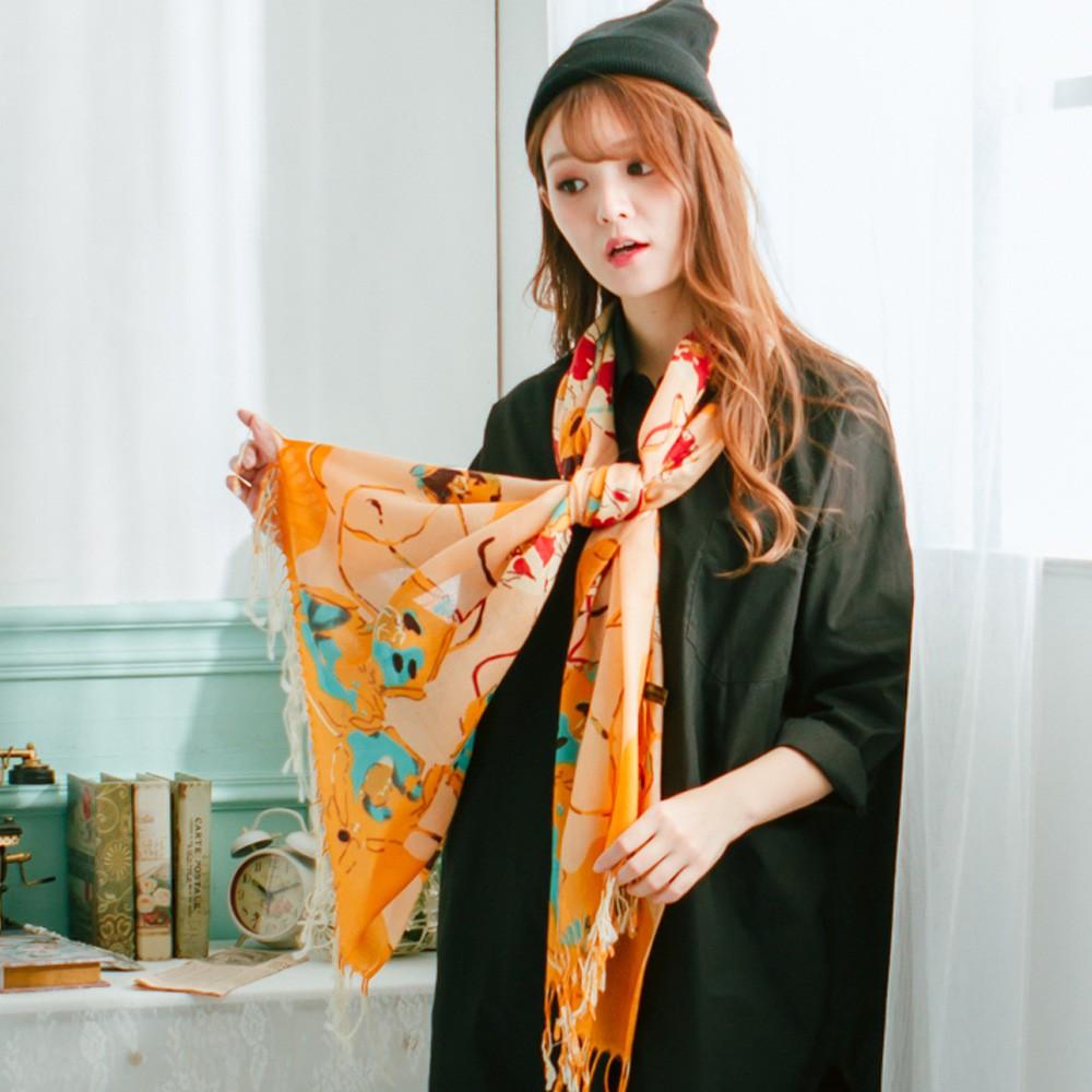 【Wonderland】柔情高雅100%純羊毛披肩(咖啡)