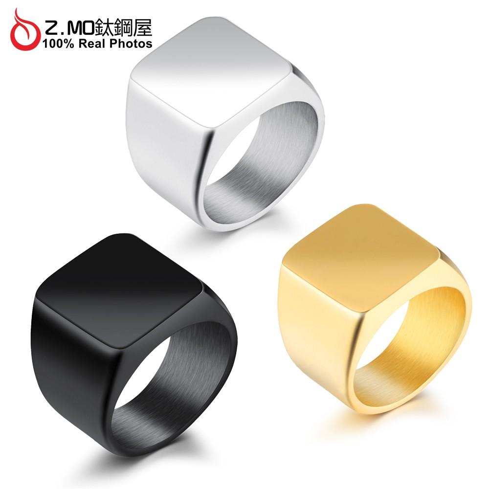 Z.MO鈦鋼屋 白鋼戒指 中性霸氣戒指 造型百搭 不生鏽 可加購刻字 中性戒指 單只價【BKS525】