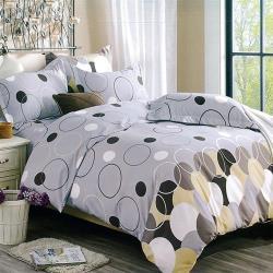 Indian-印花加大四件式涼被床包組-圓夢