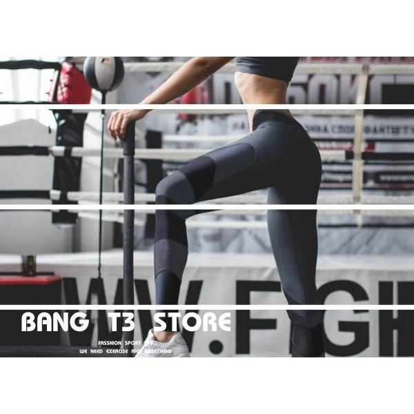 BANG T3 超顯瘦緊身褲 時尚設計款 高彈性 緊身褲 透氣 排汗 低腰 修飾身材 灰黑 緊實 慢跑【BA01】