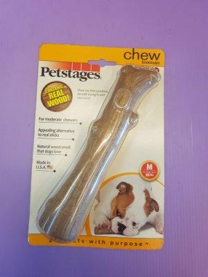 ?小福袋o?美國Petstages 史迪克《M號中型犬專用》耐咬潔牙抗憂鬱玩具12-22公斤(長19cm/粗3cm)