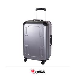 《Traveler Station》CROWN 皇冠 24吋 銀色 十字鋁框拉桿箱 行李箱