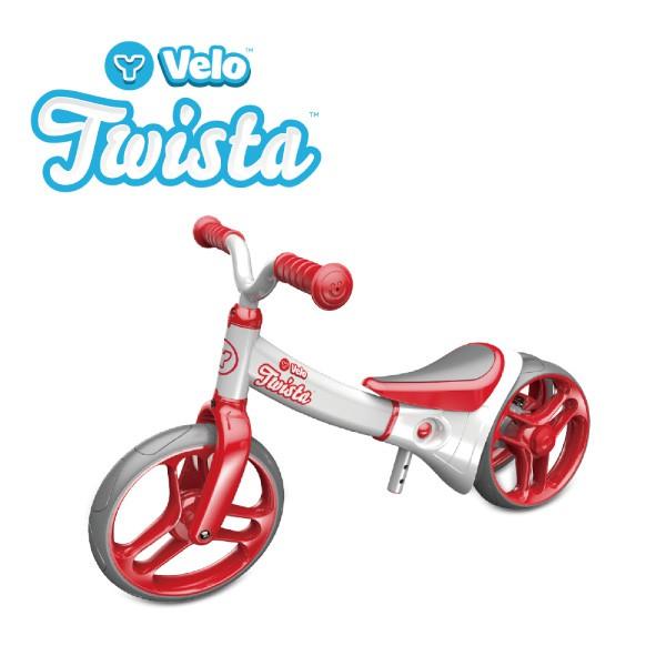 【加贈大禮包】YVolution Velo Twista 平衡滑步車-扭輪款-紅 *哈樂維台灣總代理*【麗兒采家】