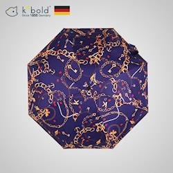 德國kobold酷波德 矽膠頭系列-8K超輕巧抗UV五折傘-藍色