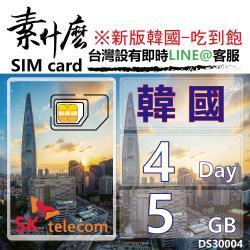 (素什麼) 韓國第一網卡 最強版4G上網 4天10GB保證流量附加吃到飽功能 韓國網卡 韓國SIM卡