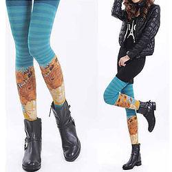 【JHJ DESIGN】梵谷-12朵向日葵-12 sunflowers 褲襪(加拿大品牌 MIT)-行動