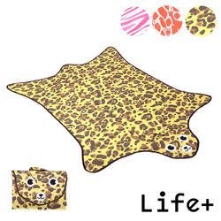 【Life Plus】動物叢林  造型野餐墊/遊戲墊 (褐色_豹紋)