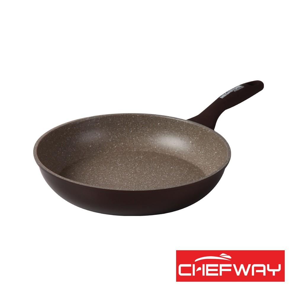 【韓國CHEFWAY】磨石不沾煎鍋 26cm《泡泡生活》