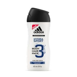 adidas愛迪達 男用三效保濕潔顏洗髮沐浴露400ml
