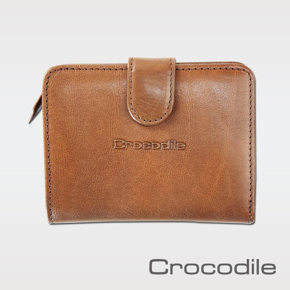 Crocodile Naturale系列 義大利植鞣真皮短夾- 拉鍊零錢袋9卡皮夾 0116-13002-02