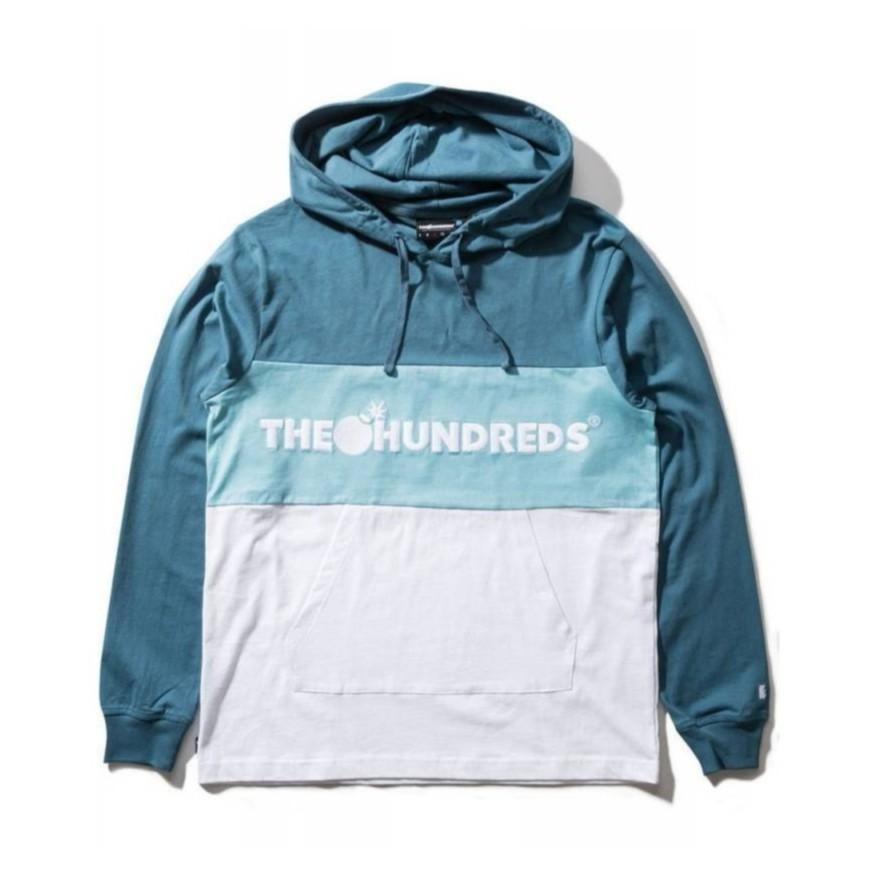 THE HUNDREDS DECK 內刷毛/純棉 長袖帽T-藍色【HopesTaiwan】
