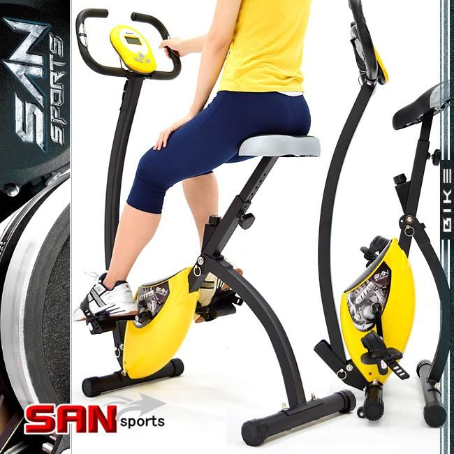 K次元BIKE飛輪式磁控健身車C082-920室內折疊腳踏車摺疊美腿機運動健身器材推薦【SAN SPORTS】