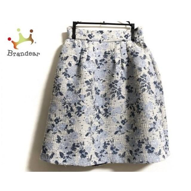 ジャスグリッティー スカート サイズ0 XS レディース ライトブルー×白×ネイビー 花柄   スペシャル特価 20190923