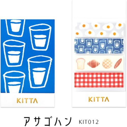 【KING JIM】日本進口 KITTA手帳標籤 和紙貼紙 BASIC_早餐 ( KIT012 )[小徑文化]
