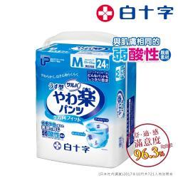 【白十字】舒腹全透氣樂活褲M-箱購96片(腰圍60-90CM-日本原裝進口)
