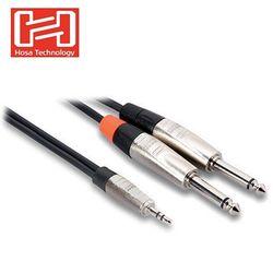 美國HOSA喇叭音源線TECHNOLOGY(公)3.5mm轉(公)6.5mm端子音源轉接線HMP-010Y