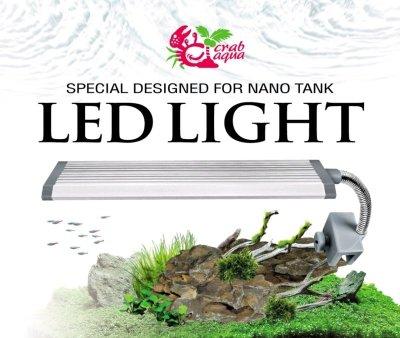 職人工具 水族用品 台灣UP雅柏/小螃蟹系列  LED 側夾燈-(藍白光/ 17cm ) 高亮度-薄型-防潑水 夾燈