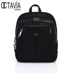 OCTAVIA 8 - 天籟 設計師款IPAD專用扁式三層尼龍後背包 - 音樂黑
