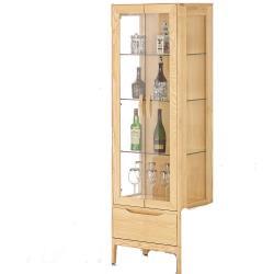 H&D 丹肯2尺栓木實木展示櫃
