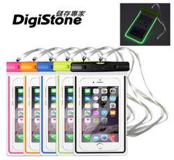 DigiStone 手機防水袋/保護套/可觸控(夜螢光型)通用5.9吋以下手機--5色