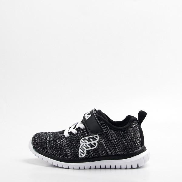 FILA 兒童 輕量慢跑鞋-黑 2-J828S-001 現貨 零碼出清