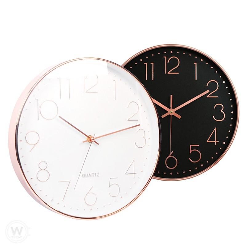 極簡靜音掛鐘 質感時鐘 簡約風 玫瑰金壁鐘 客廳時鐘 石英鐘 復古鐘 Clock數字時鐘