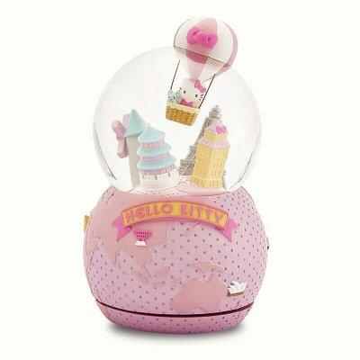 限時特價 JARLL讚爾hello kitty環遊世界音樂盒 音樂鈴 水晶球 雪球擺飾