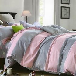 La Elite     甜蜜無限純綿兩用被床包組 -雙人-網 (加碼送純綿面紙布套 )