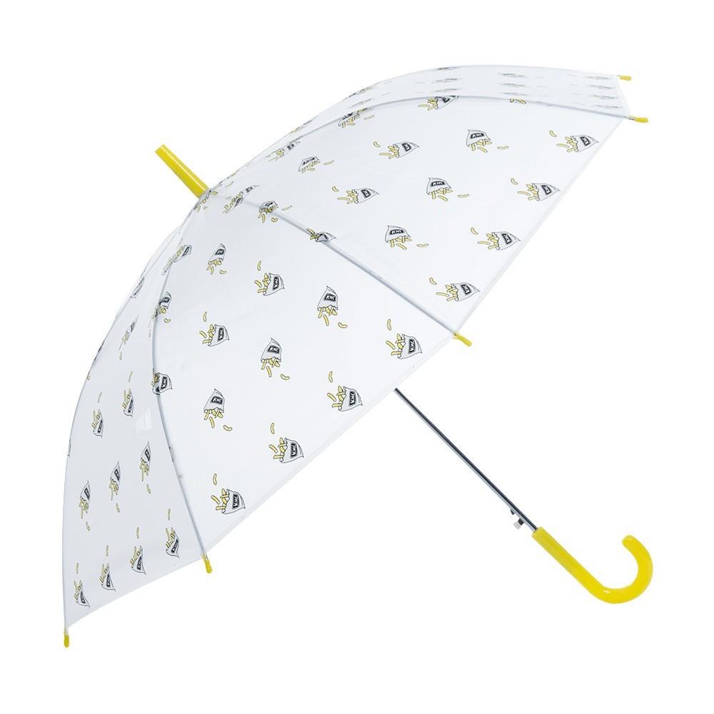 麗尚秀 簡約生活系列 生活飲食印花長柄直傘《薯條》晴雨傘 太陽傘 遮陽傘 雨傘 防潑水 自動傘 彎把傘【FA216】