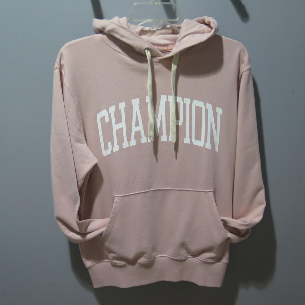 Champion C3-N114-920-PINK 印花連帽T 粉色 662110040557【iSport愛運動】