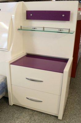 【宏興HOME BRISK】莉迪雅白色床頭櫃 + 背板 亮面烤漆 安心成家專案 整套購買 另有優惠