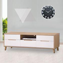 【時尚屋】[G17]肯詩特烤白雙色5尺長櫃G17-A194-5