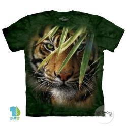 摩達客 (預購) 美國進口The Mountain 林中之虎 純棉環保藝術中性短袖T恤