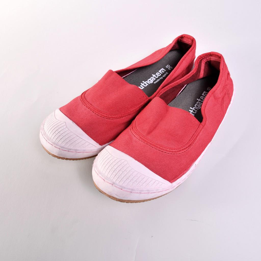Southgate南登機口 ANN洗染系列 京都紅 帆布鞋 休閒鞋 懶人鞋