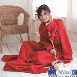 米夢家居~紅喜迎春100%台灣製造~輕柔懶人袖毯5入(懶人毯、毛毯高雄現貨)