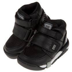 《布布童鞋》Moonstar日本Carrot黑色兒童機能矯健鞋(醫師推薦矯正鞋)(15~21公分) [ I9B406D ]